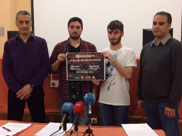 Alumnos y docentes de la UC se suman a la huelga del 9M