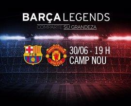 Leyendas del Barça y Manchester United jugarán en el Camp Nou el 30 de junio