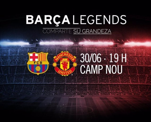FC Barcelona y Manchester United legends