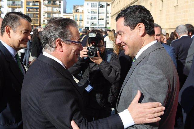 Zoido y Moreno, en los actos institucionales con motivo del 28F en el Parlamento