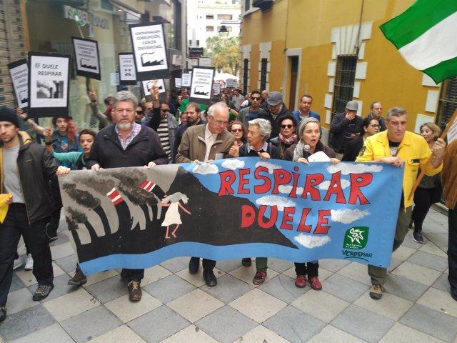 Manifestación por las calles de Algeciras (Cádiz)