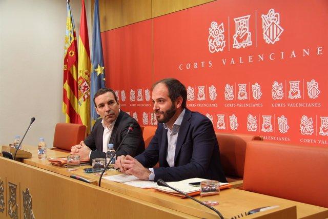 Rueda de prensa de De Miguel (Cs) en las Corts