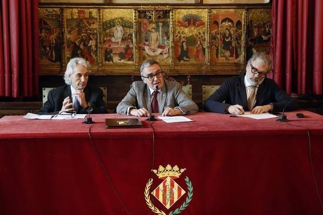 Ramon Roca, Àngel Ros y Félix Larrosa