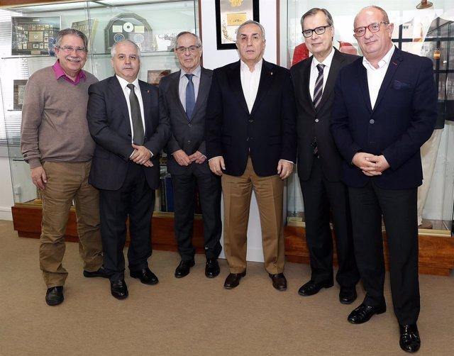Alejandro Blanco y presidentes de federaciones olímpicas