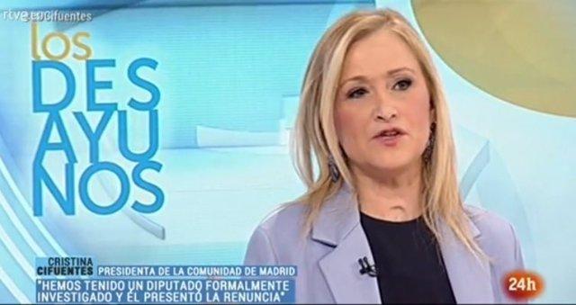 Cristina Cifuentes en TVE