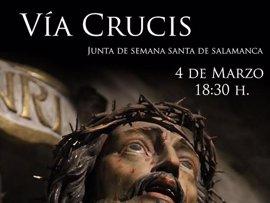 El Santísimo Cristo del Amparo preside este sábado el Vía Crucis de la Junta de Semana Santa de Salamanca