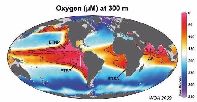 Areas asociadas con altos niveles de metano