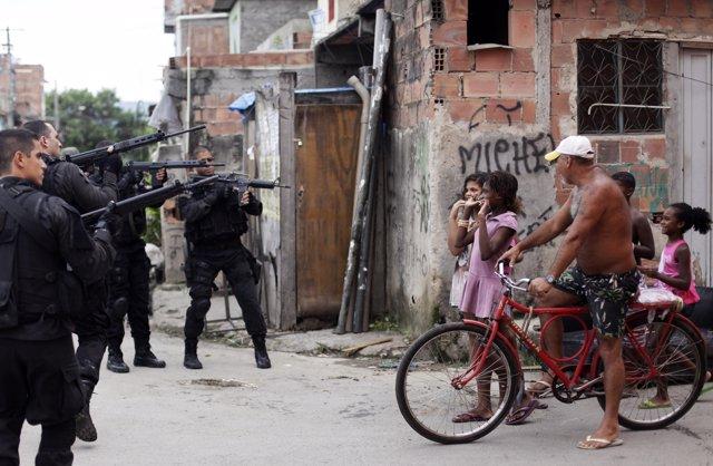 La favela de Complejo de Maré, en Río de Janeiro