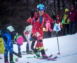 Claudia Galicia, campeona del mundo de esquí de montaña en Sprint en Italia
