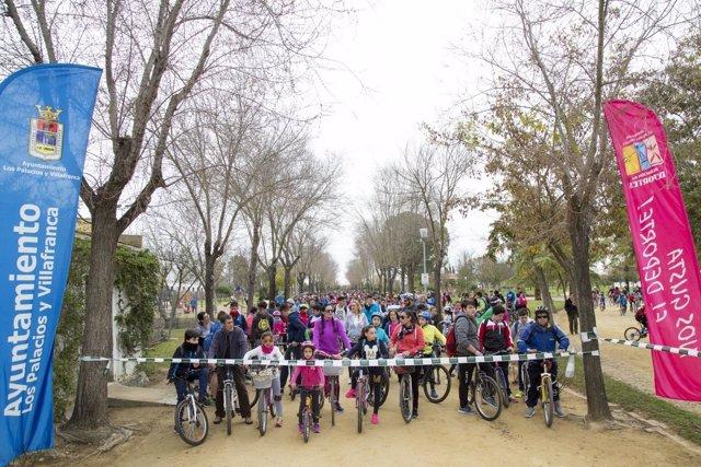 Marcha en bici en Los Palacios y Villafranca por el Día de Andalucía