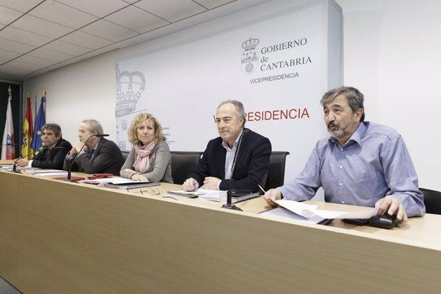 Díaz Tezanos en la reunión