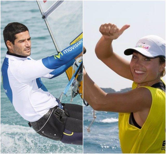 Iván Pastor y Blanca Manchón, campeones de España de vela RS:X