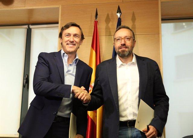 Rafael Hernando y Juan Carlos Girauta