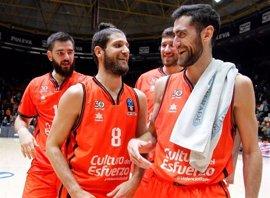 Valencia Basket, único equipo español que golpea primero en cuartos de final