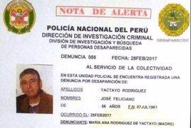 Denuncian la desaparición de un periodista en Perú, del que no se sabe nada desde el sábado