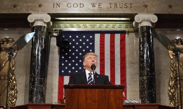 Donald Trump pronuncia su primer discurso ante el Congreso