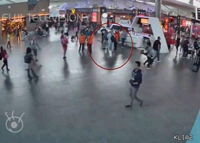 Imagen de una cámara de seguridad del aeropuerto de Kuala Lumpur
