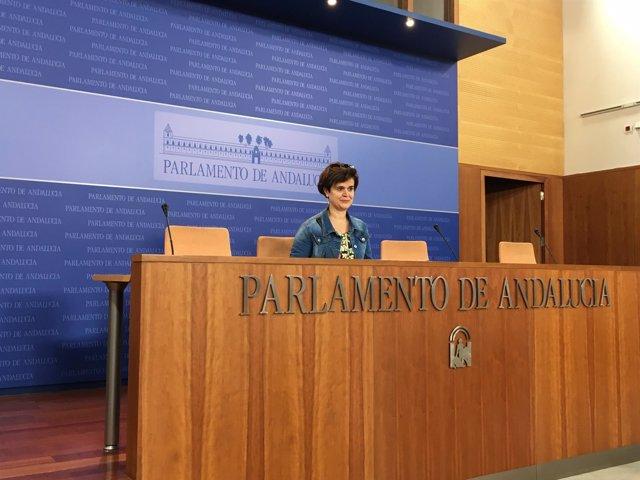 La portavoz adjunta de Podemos Andalucía, Esperanza Gómez