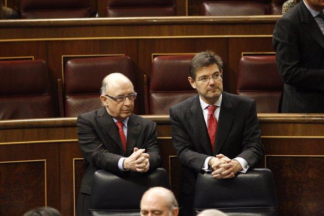 Cristóbal Montoro y Rafael Catalá