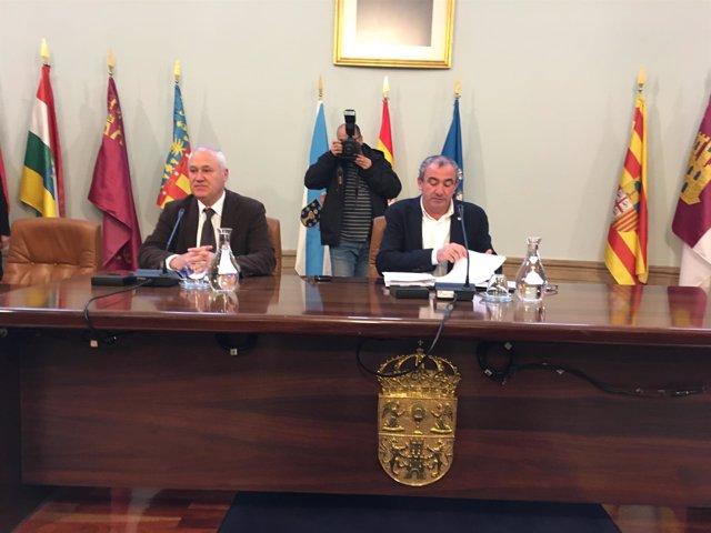 Manuel Martínez y Darío Campos en la Diputación de Lugo