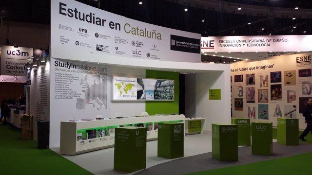 Estand del Consell Interuniversitari de Catalunya en Aula Madrid