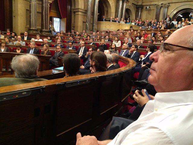 Rabell en el Parlament