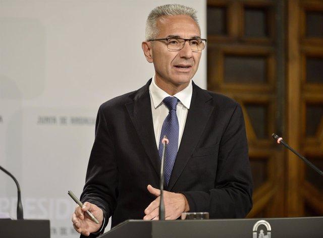 Miguel Ángel Vázquez, portavoz del Gobierno andaluz