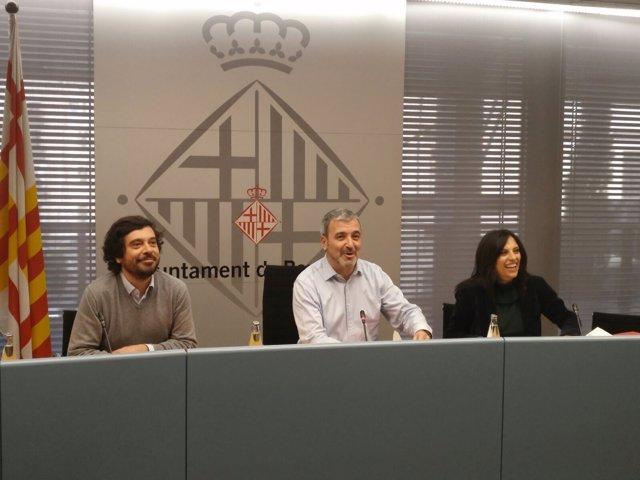 Jaume Collboni,Daniel Mòdol y Rosa Ortiz