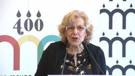 """Carmena insiste en que no hay disciplina de voto en Ahora Madrid y que ella recibe """"a todo el mundo"""""""