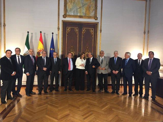 José Luis Bonet (Cámara De Comercio De España), Con Susana Díaz