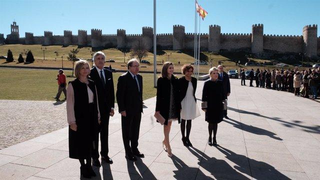 Valladolid. Letizia y Herrera en congreso Ávila