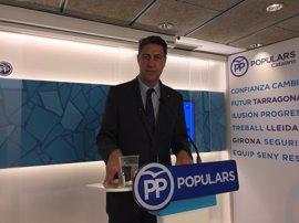 Albiol inicia su campaña electoral para presidir el PP catalán como único precandidato