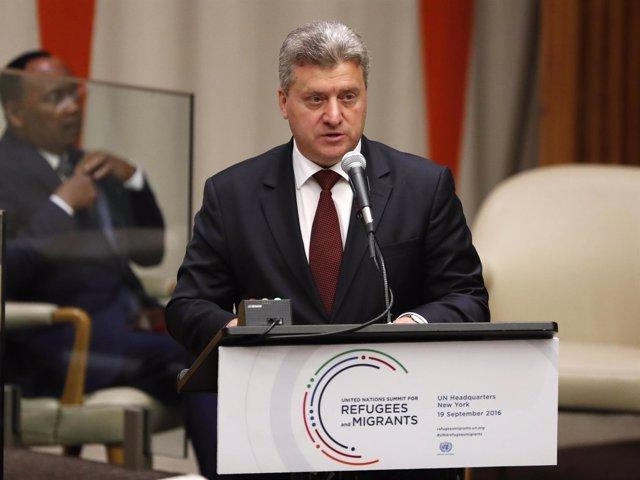 El presidente de Macedonia, Gjorge Ivanov