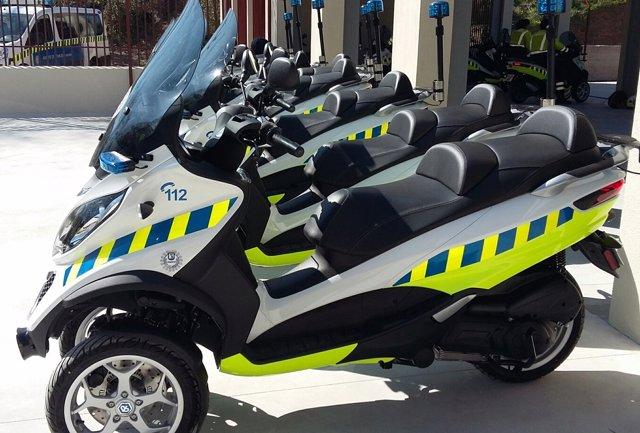 Imagen de las nuevas motocicletas de tres ruedas