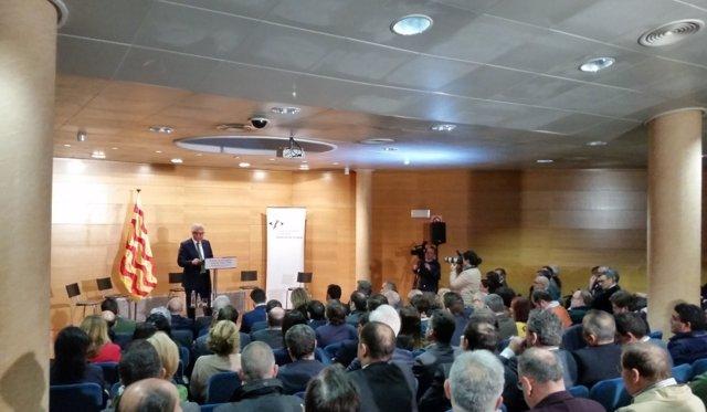Josep Fèlix Ballesteros, durante la conferencia
