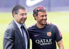 "Bartomeu: ""Luis Enrique ha sido un súper entrenador"""