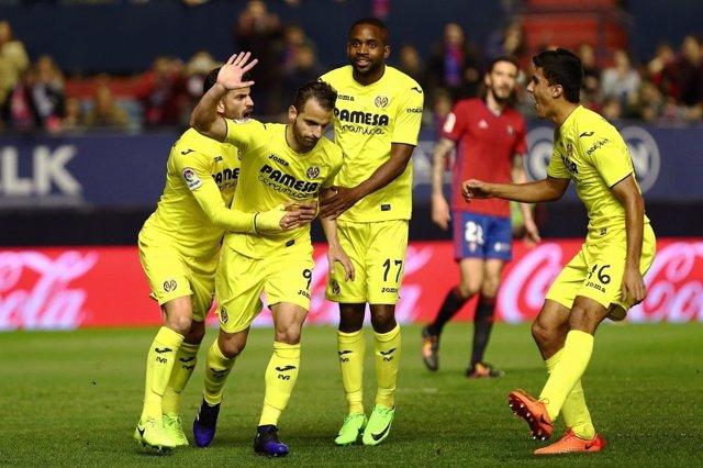 Soldado celebra el gol ante Osasuna