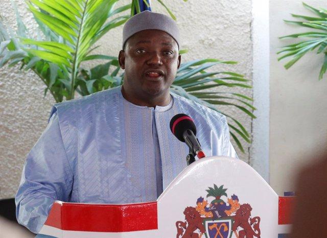 El presidente de Gambia, Adama Barrow