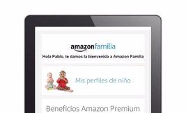 Amazon.es lanza 'Amazon Familia', con entrega automática y descuentos del 15% en pañales