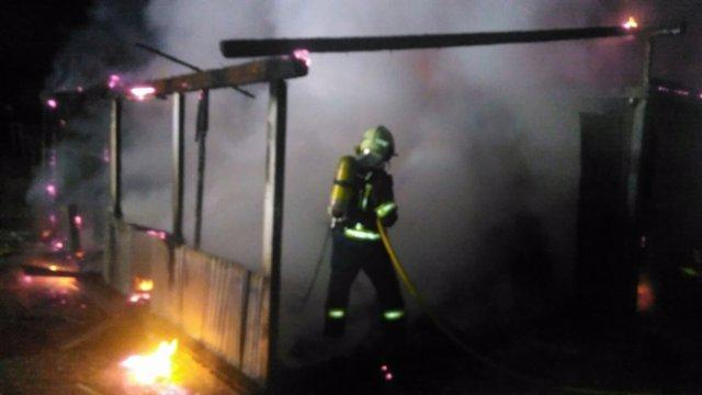 Incendio en un cobertizo de Noja