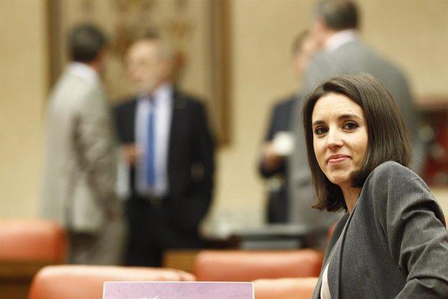 Irene Montero en la Comsión de Justicia del Congreso
