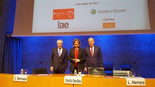 Carlos Berruezo, Fátima Báñez y Luis Herrero
