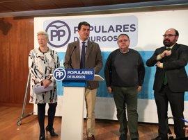 El PP presentará cinco iniciativas en las Cortes para impulsar infraestructuras y dotaciones en la provincia de Burgos