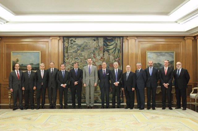 Audiencia del Rey Felipe VI con la Alianza por la Competitividad