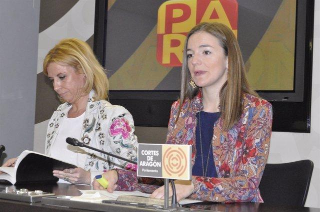 Rosa Santos y Lucía Guillén, del PAR