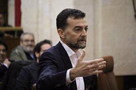 """Maíllo (IU) afea el """"inmovilismo político"""" del Gobierno andaluz y ve a Susana Díaz """"demediada"""" entre Sevilla y Madrid"""