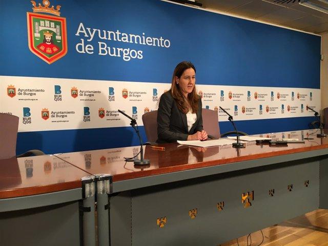 Gema Conde, portavoz de la Junta Local de Burgos.