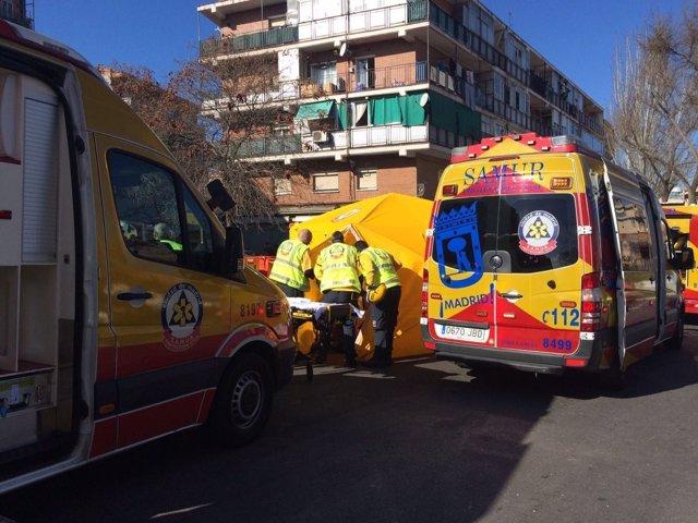 Explosión en Vicálvaro (Madrid)