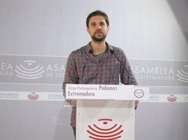 """Podemos lamenta que Extremadura sigue """"a la deriva"""" al tener """"los mismos"""" parados que al inicio de la legislatura"""