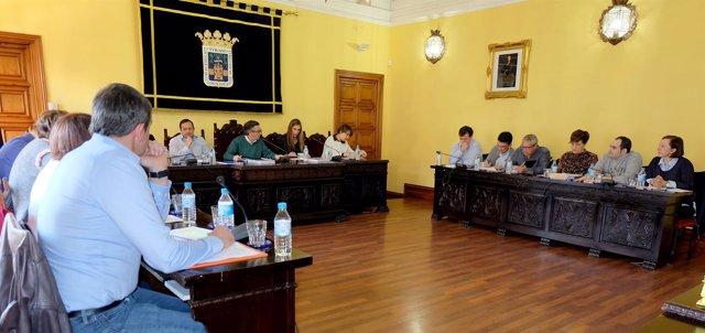Pleno en el Ayuntamiento de Tarazona